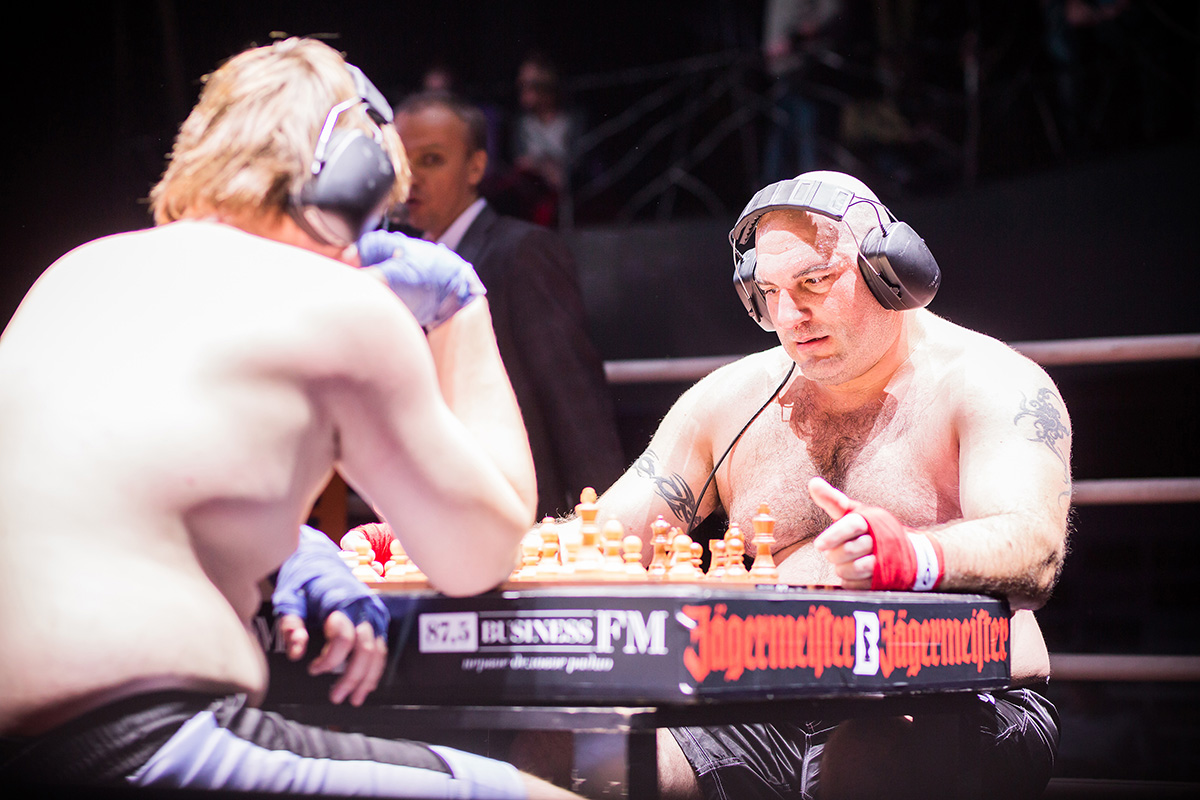 This is chess, and this is boxing